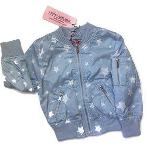 Urban Republic Light Blue & Stars Bomber Jacket